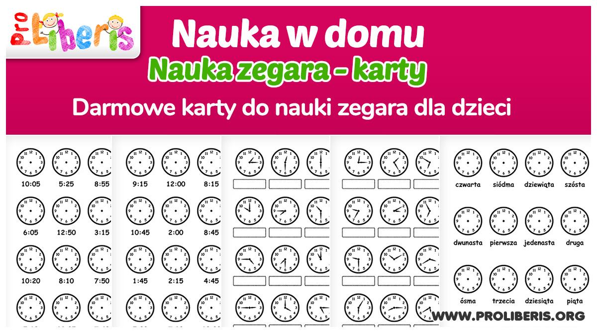 Nauka zegara – materiały do druku dla dzieci