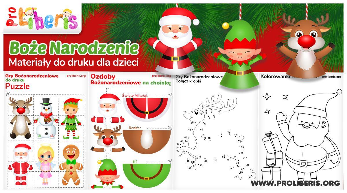 Boże Narodzenie – materiały do druku dla dzieci