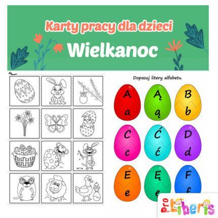 Wielkanoc - karty pracy dla dzieci