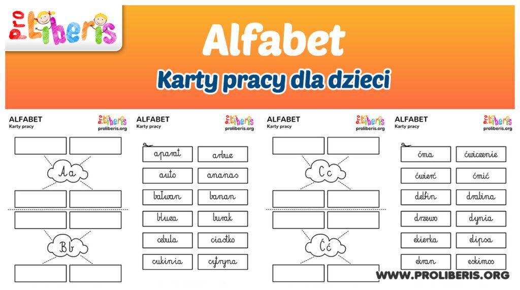 Alfabet - karty pracy dla dzieci